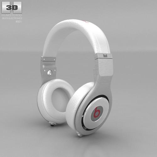 Beats by Dr Dre Pro White3D model