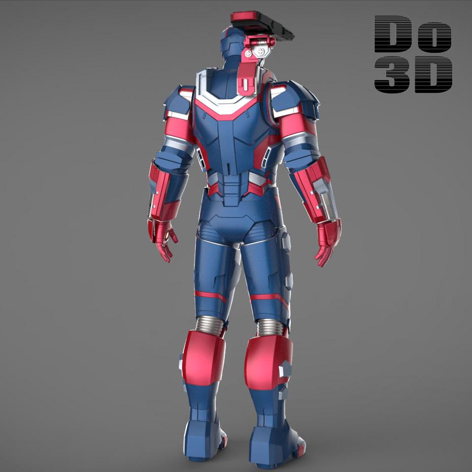 Iron Man 3 Suits - Mark 42 Patriot Mark 17...