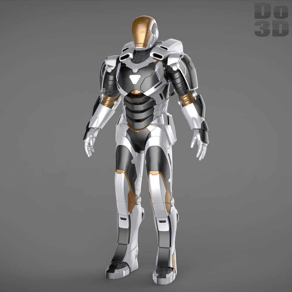 Iron Man 3 Suits - Mark 42 Patriot Mark 17... 3D Model ...