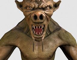 3D asset Three-eyed Creature