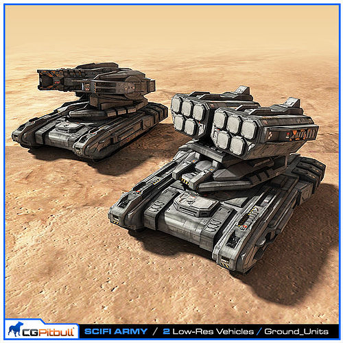 SciFi Army Ground Units 02