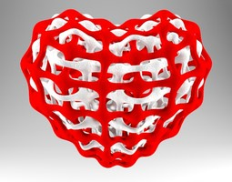 interlinked heart 3d model obj