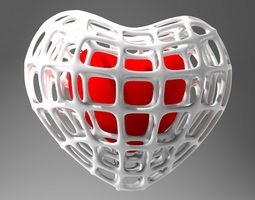 Heart in a Cage 3D Model