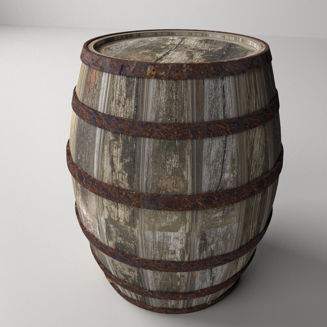 Genial Wooden Barrel 3d Model 3ds Fbx Blend Dae 1 ...