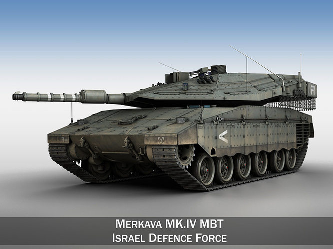 merkava iv -  israel defense forces 3d model obj mtl 3ds fbx c4d lwo lw lws 1