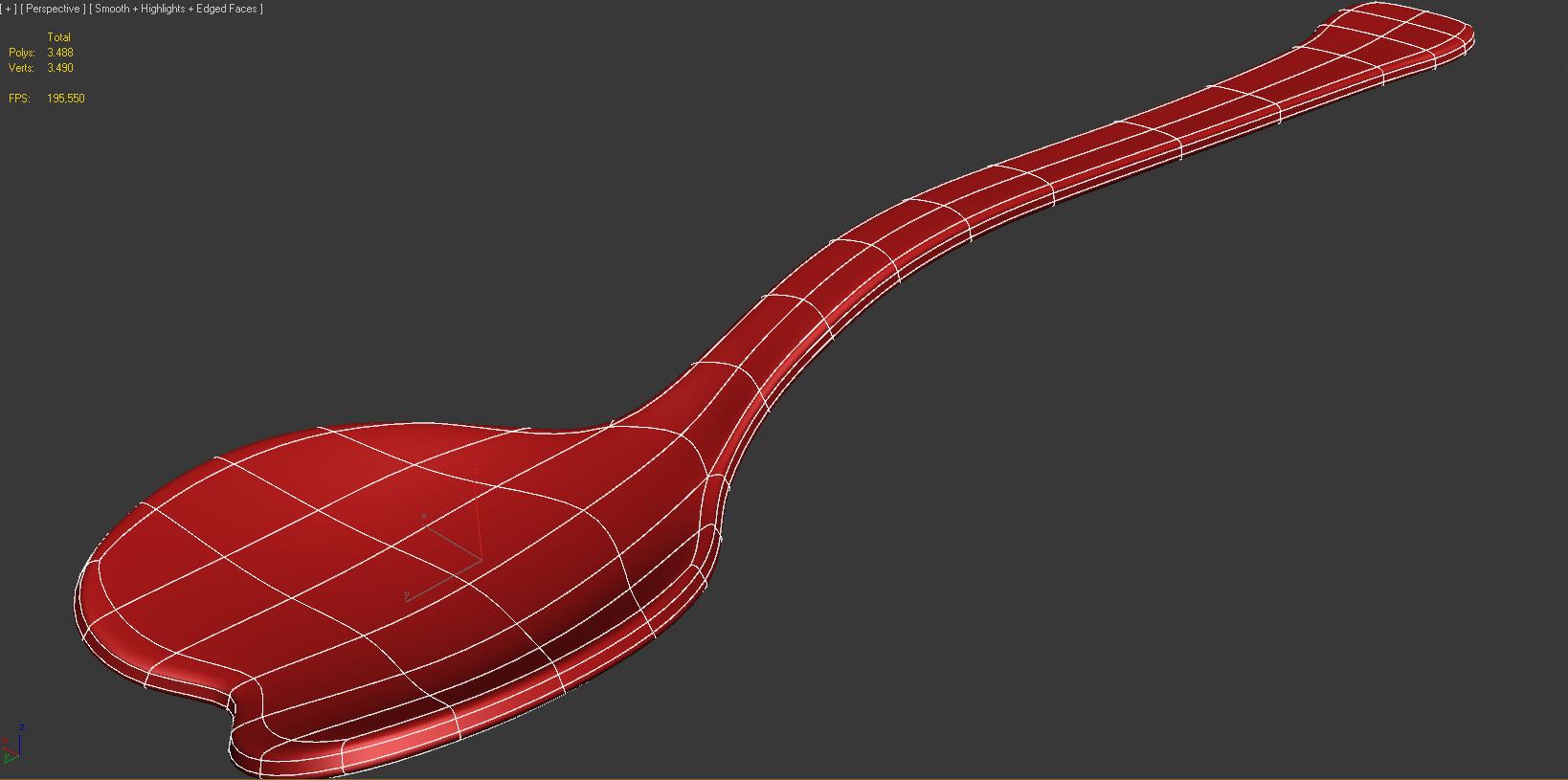 Spoon Heart 3d Model 3d Printable Max Obj Fbx Stl Cgtrader Com
