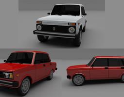 3D model Lada Pack