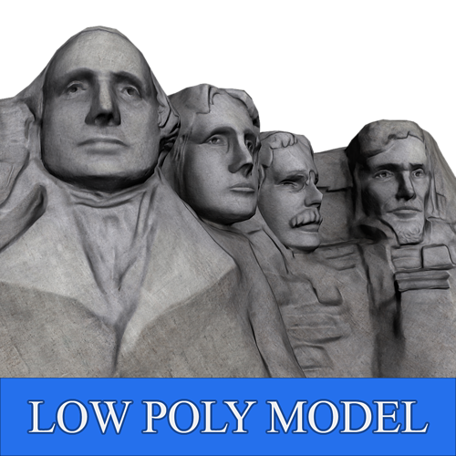 mount rushmore low poly 3d model low-poly max obj mtl fbx ztl 1