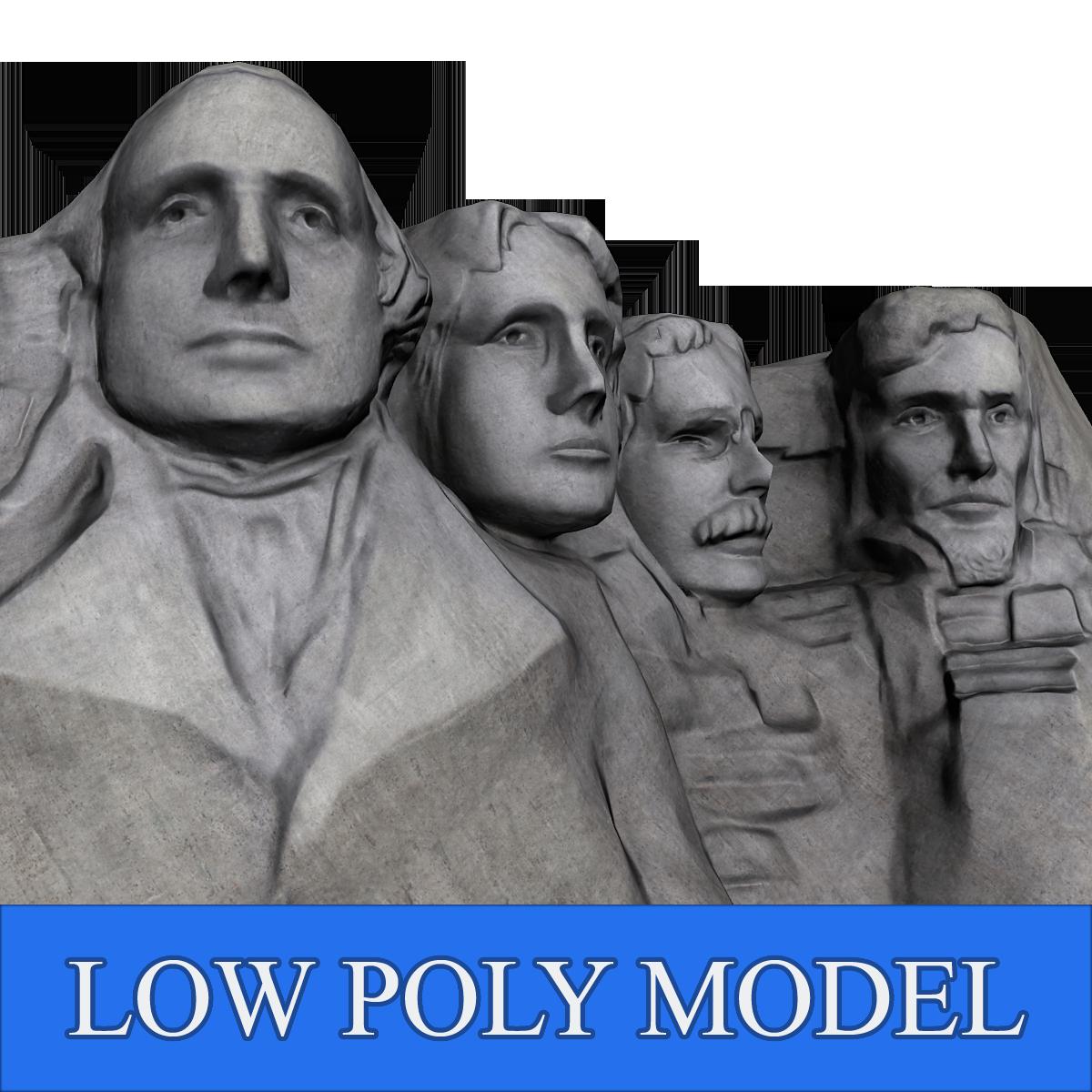 Mount Rushmore Low Poly