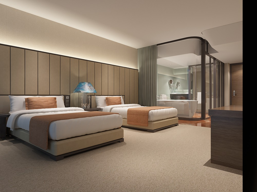 Modern hotel room 3d model max for Design hotel 3d