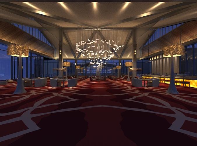 Restaurant interior d model cgtrader