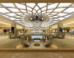 Mall and Escalators 3D model