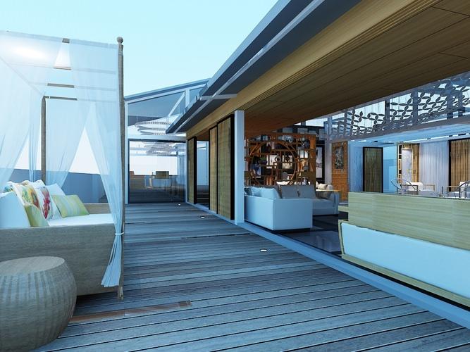 terrace 3d model max