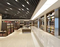 3D Modern Bookstore