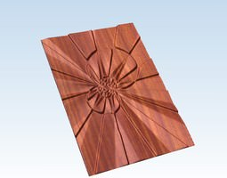 3D Decorative abstract relief Explosion