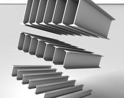 Metal Beam IPN 3D model