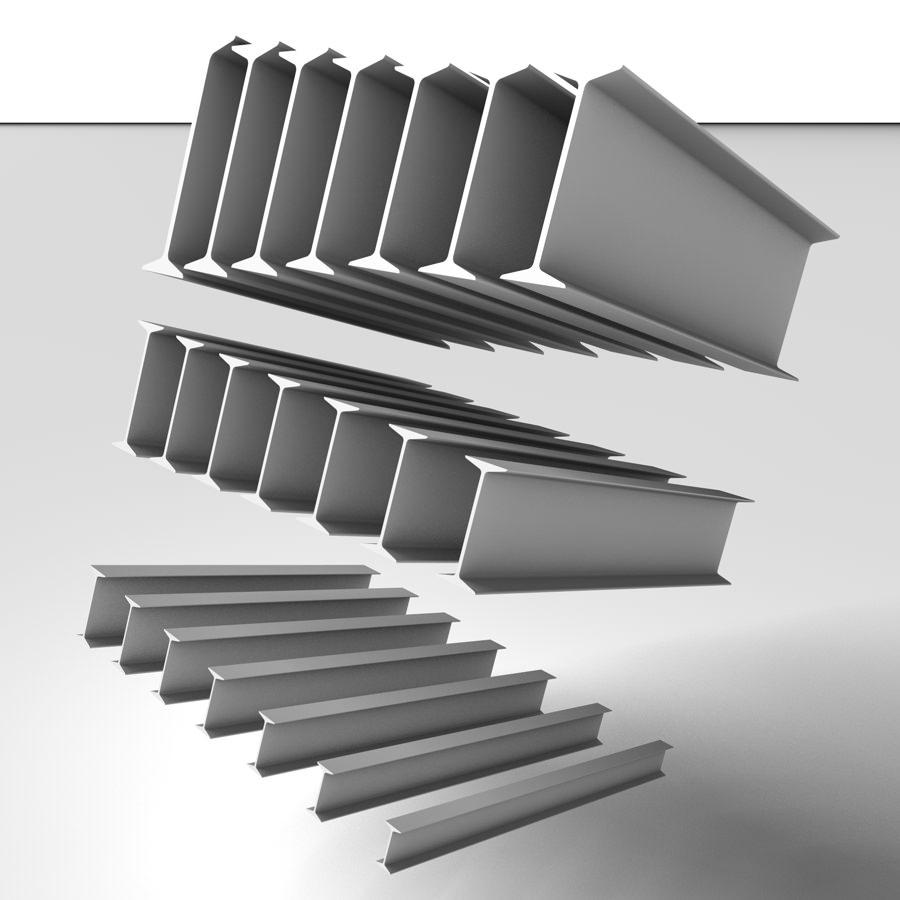 Metal beam ipn 3d model c4d - Beam ipn ...