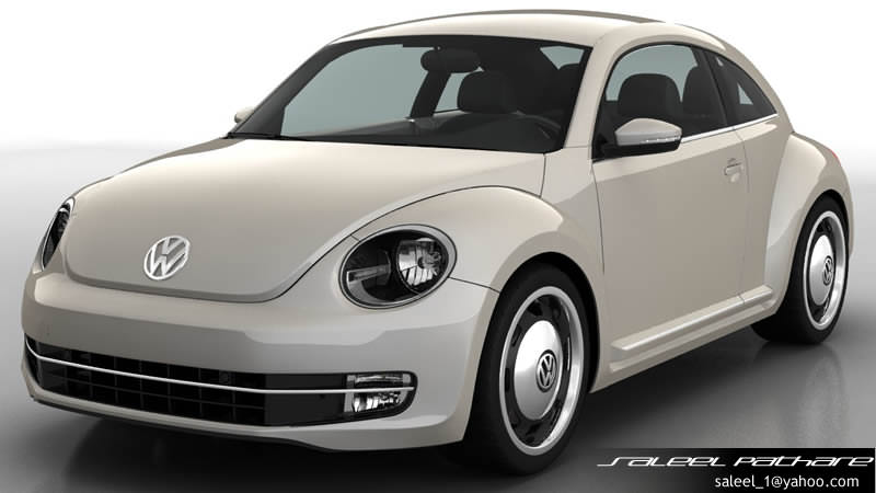 vw beetle 2014 3d model max obj. Black Bedroom Furniture Sets. Home Design Ideas