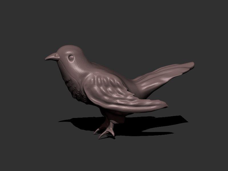 Cuckoo Bird 3d Model 3d Printable Obj Stl Cgtrader Com