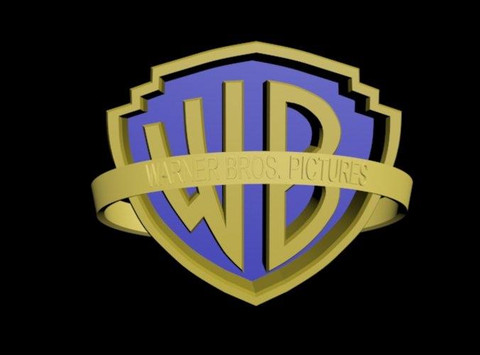 Warner Bros Logo Free 3d Model Max 3ds Mtl Cgtrader Com