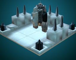 3d model sci-fi structure v
