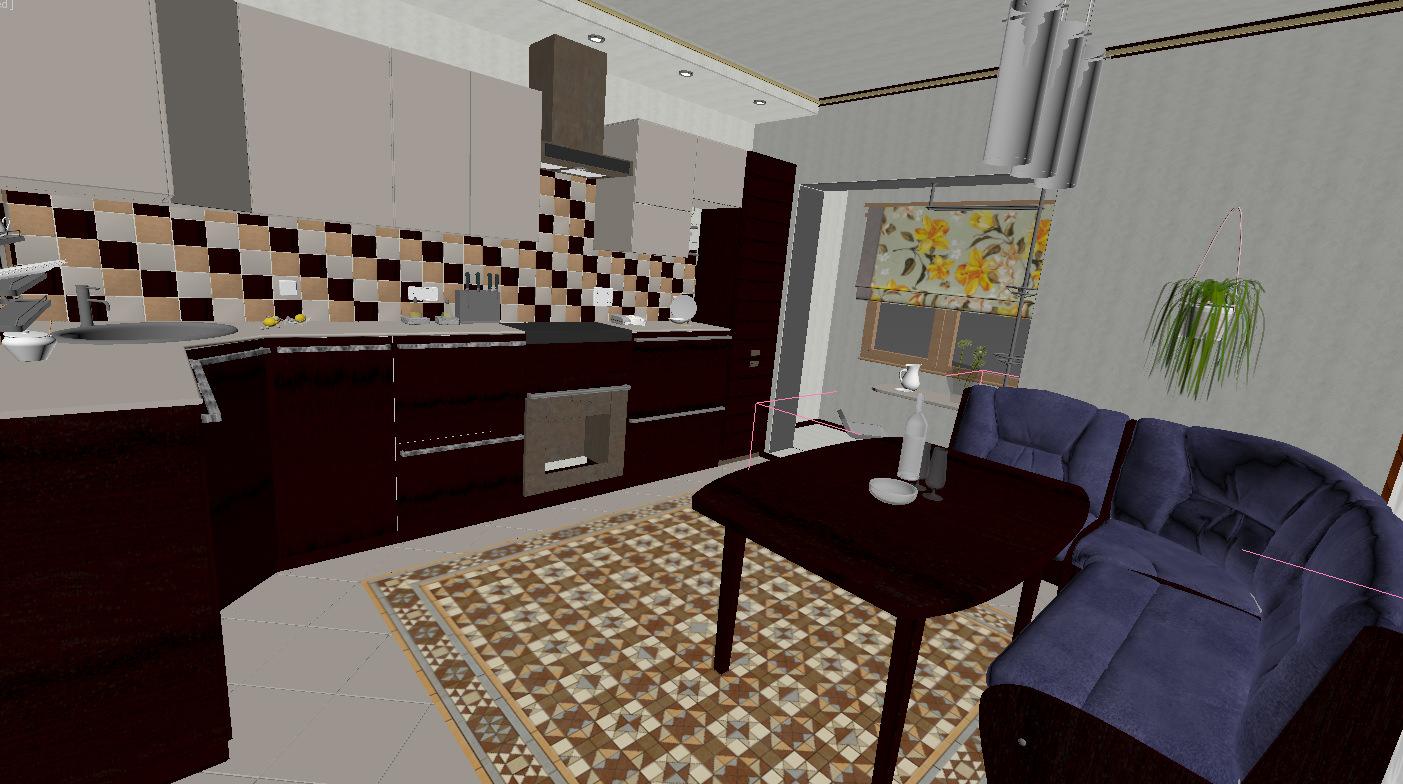 Large apartment 3d model max for Apartment model