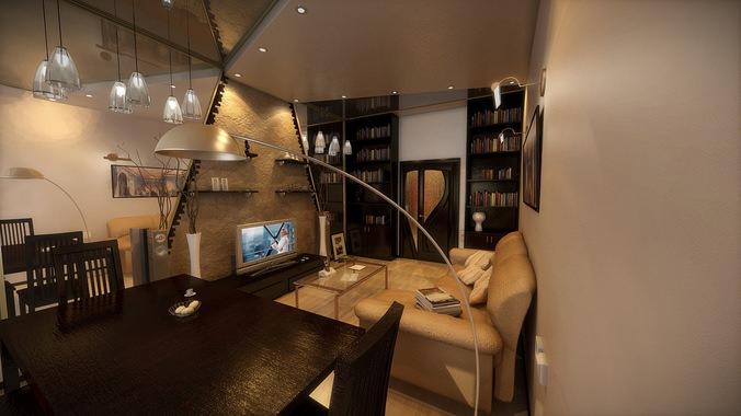 Large apartment3D model