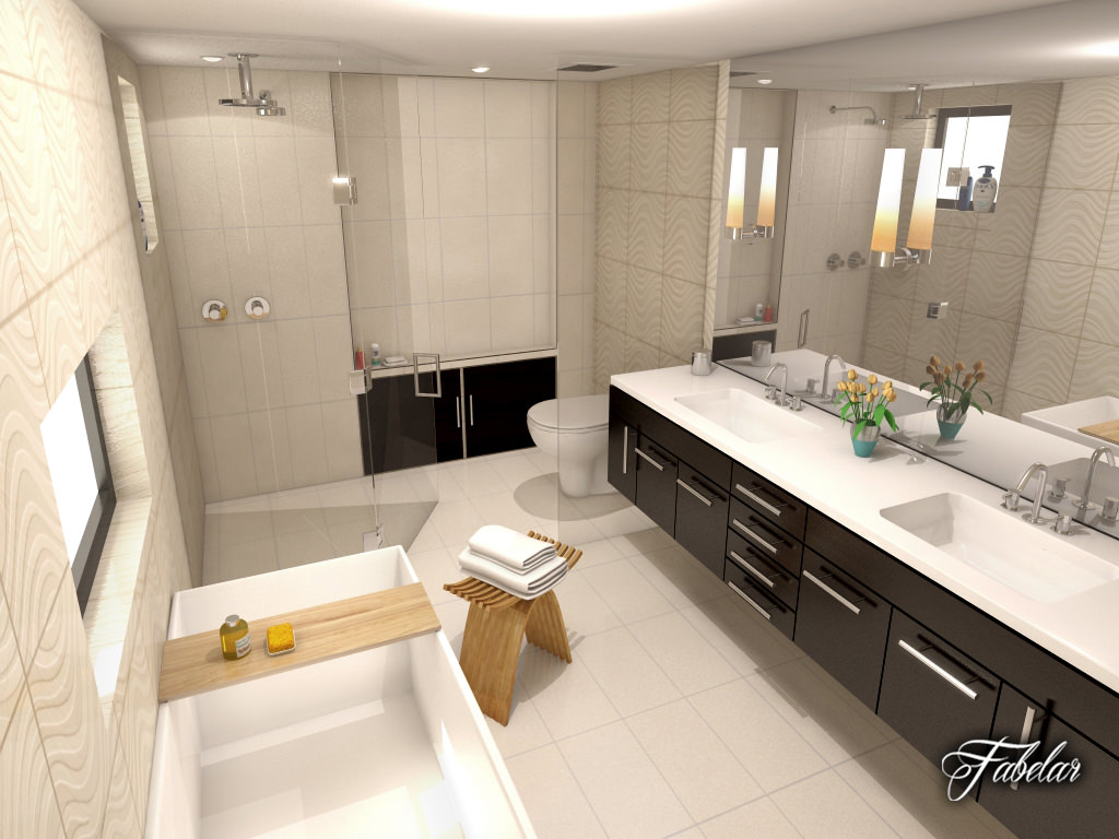 Bathroom 30 3d model max obj 3ds fbx c4d dae for Bathroom models photos