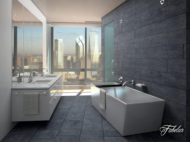 bathroom 3d model max obj 3ds fbx c4d dae 1