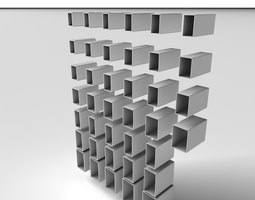 Metal Profile RHS 3D model