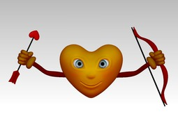 3D Printable Cupidon Heart 3D Model