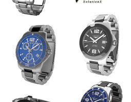 Longiness Watches Collection 3D Model