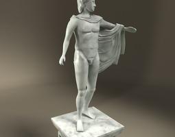 3D model Greek Statue Apollo