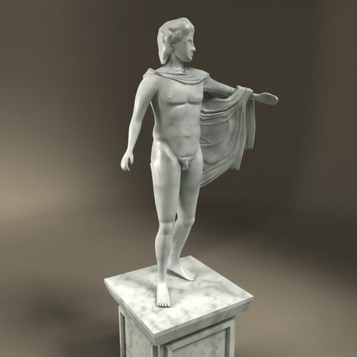 Greek Statue Apollo3D model