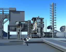3D asset Center of Rocket launch