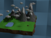 Low Poly Mountains 3D Model