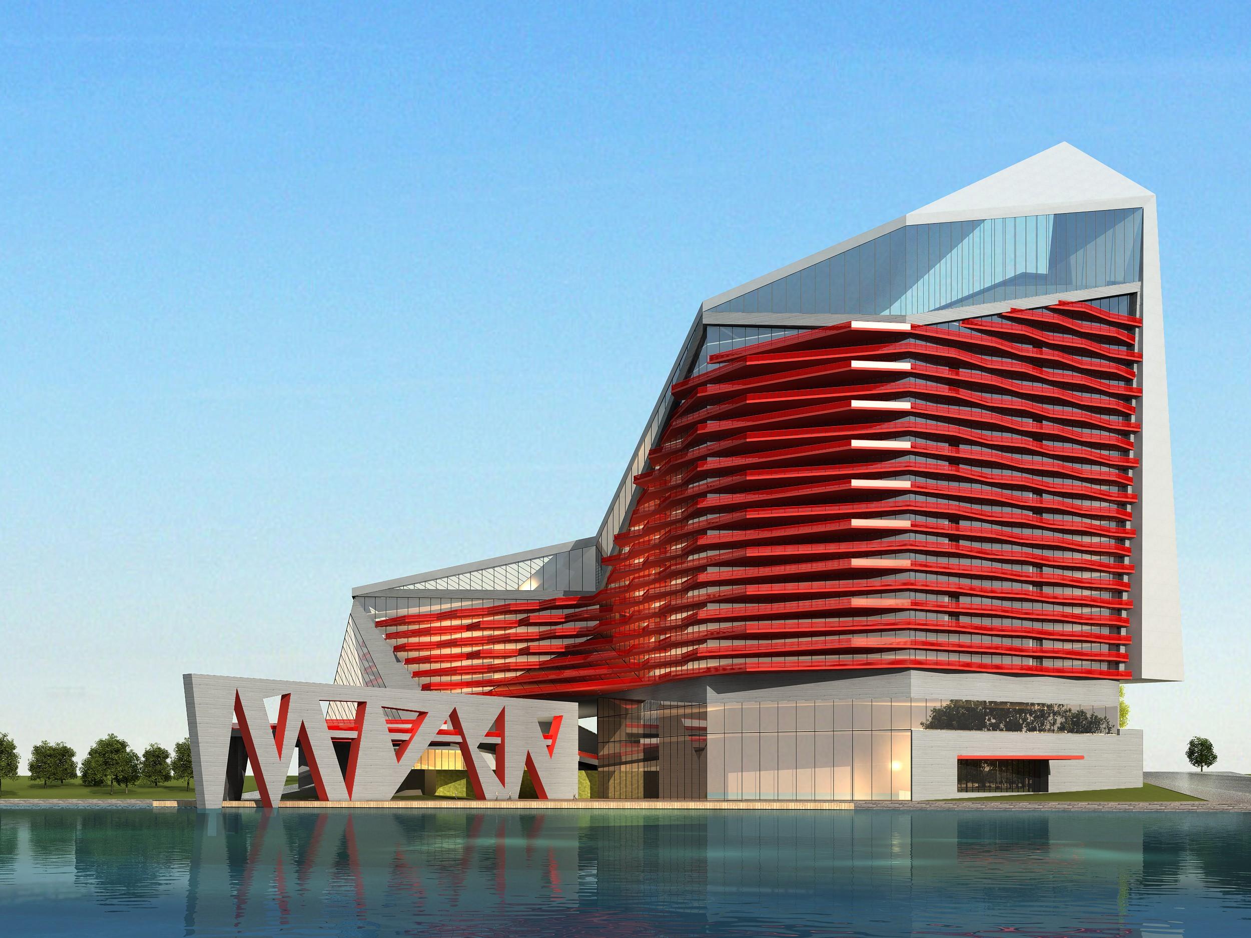 modern building 3d model max