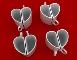 heart mugs 3d print model