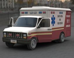 rigged 3d model ambulance for vue