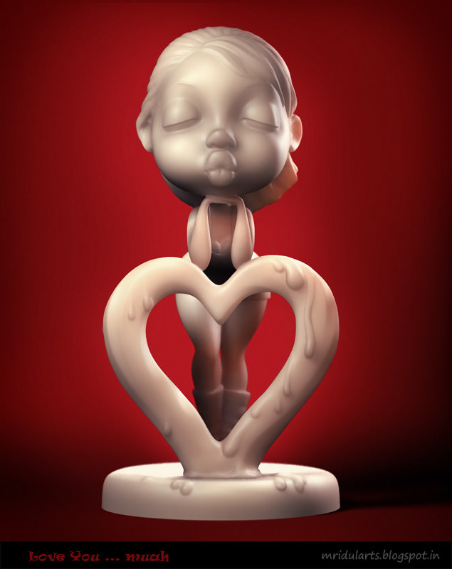 love you muah 3d model obj mtl stl 1 ...
