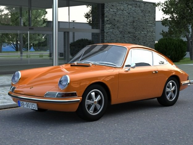 Porsche 911 1963 3d Model Animated Rigged Max Obj 3ds