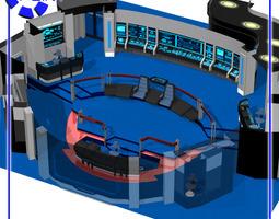 3d starship bridge 4 for poser 51986 design rigged