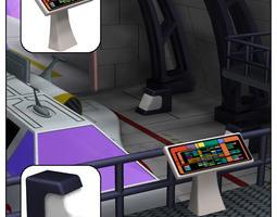 shuttle bay for poser rigged 3d model