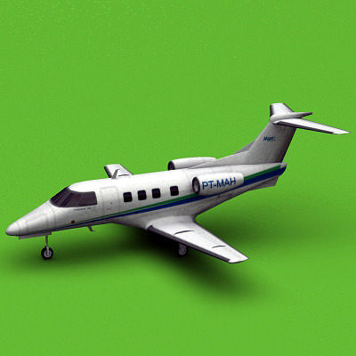 embraer phenom 100 abc taxi aereo 3d model max 3ds fbx c4d lwo lw lws ma mb 1