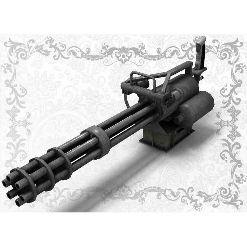gatling gun for poser 3d model rigged pz3 pp2   cgtrader