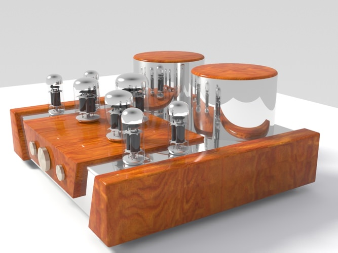 Vacuum tube amplifier 013D model
