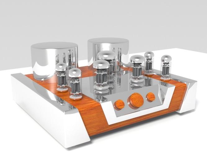 Vacuum tube amplifier 023D model