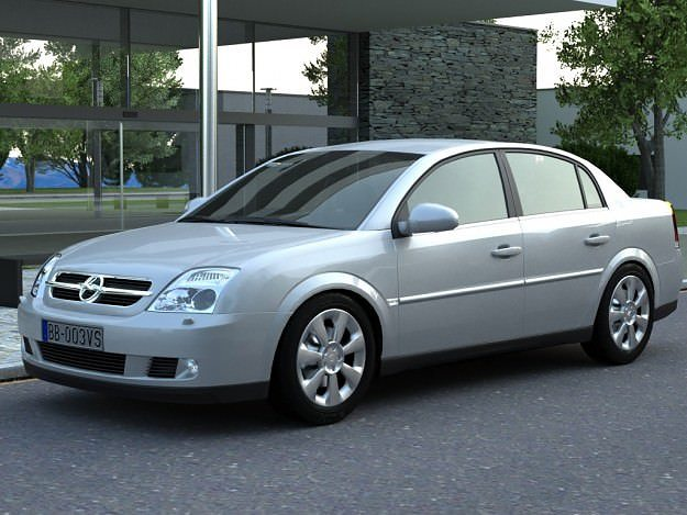 Opel Vectra 2003 3D Model animated rigged MAX OBJ 3DS FBX