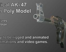 PBR ak-47 high poly model