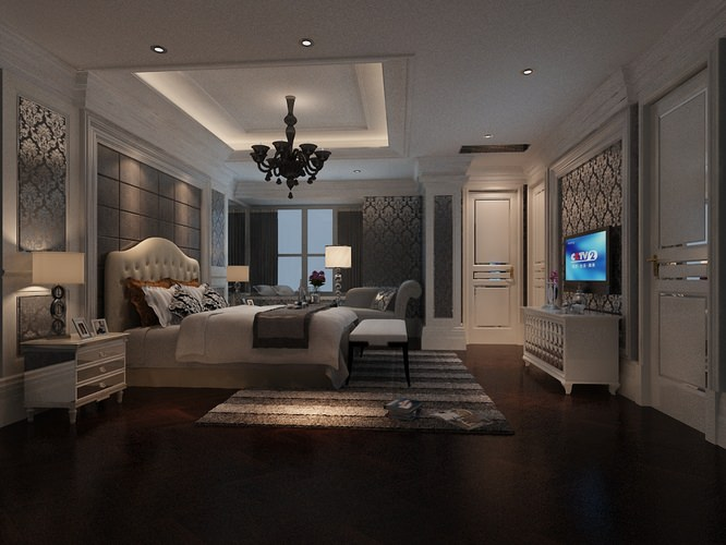 Fancy Bedroom 3D Model .max - CGTrader.com